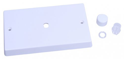 Varilight WQD1W White Plastic 1 Gang Dimmer Plate Only + Knobs (Twin Plate)